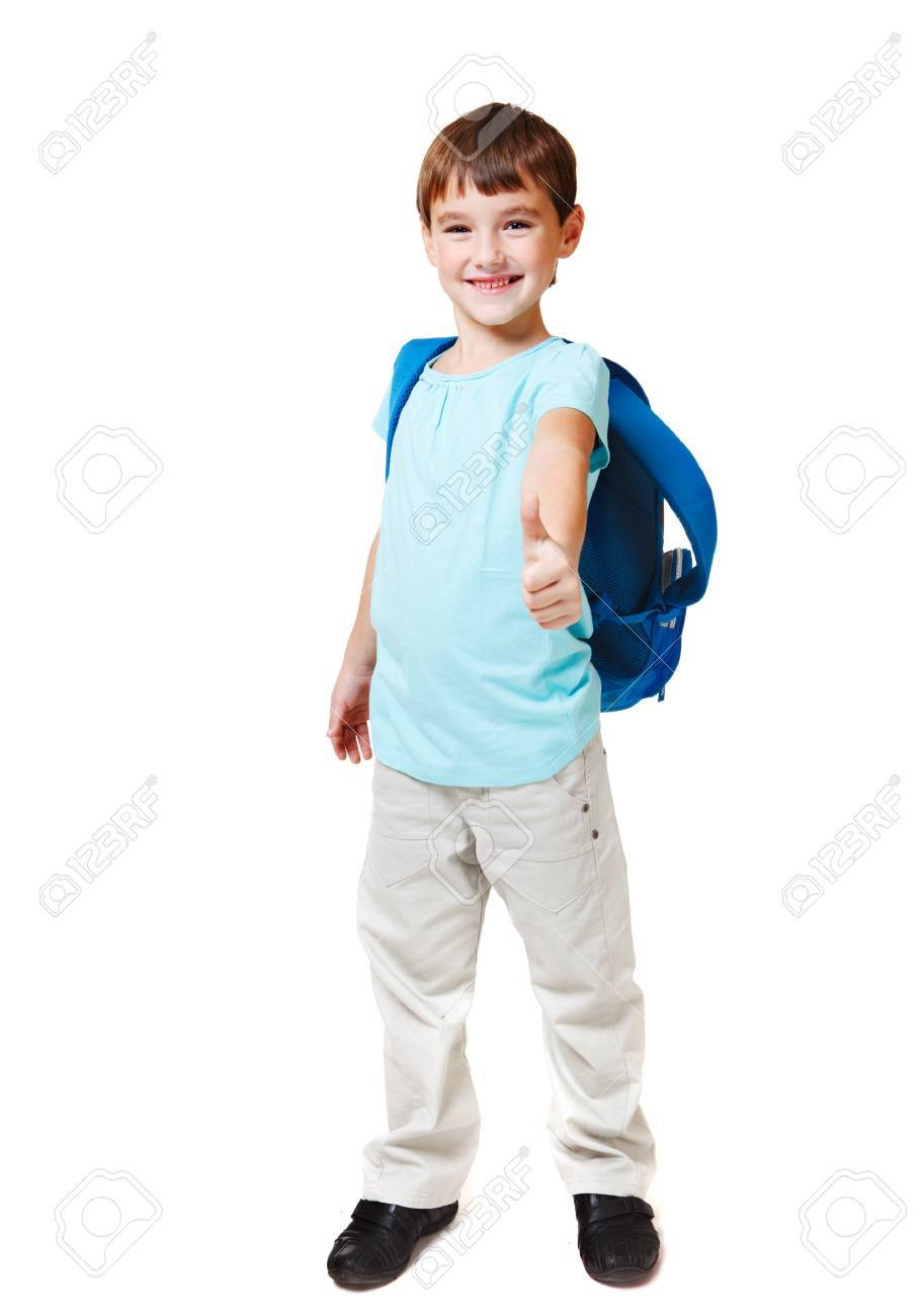 Attractive successful kid showing ok sign, isolated Stock Photo - 11941690