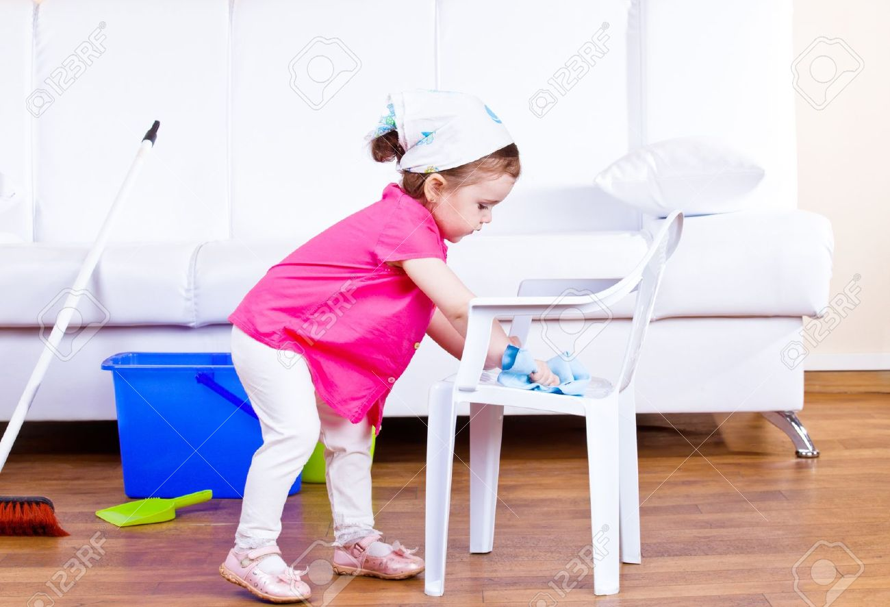 Phenomenal Little Girl Wiping Dust Off A Kid Chair Squirreltailoven Fun Painted Chair Ideas Images Squirreltailovenorg