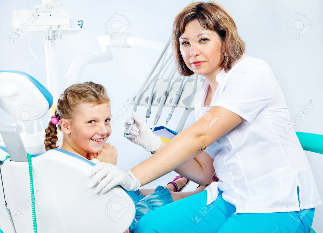 Dental treatment of kid Stock Photo - 18562493