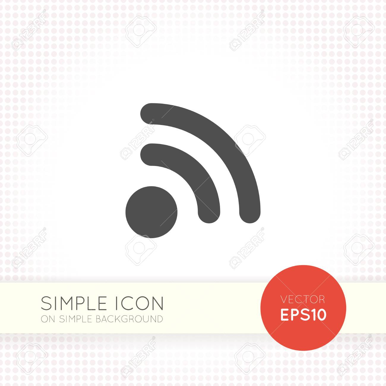 Flat Rss And Wifi Icon Isolated On Simple White Background