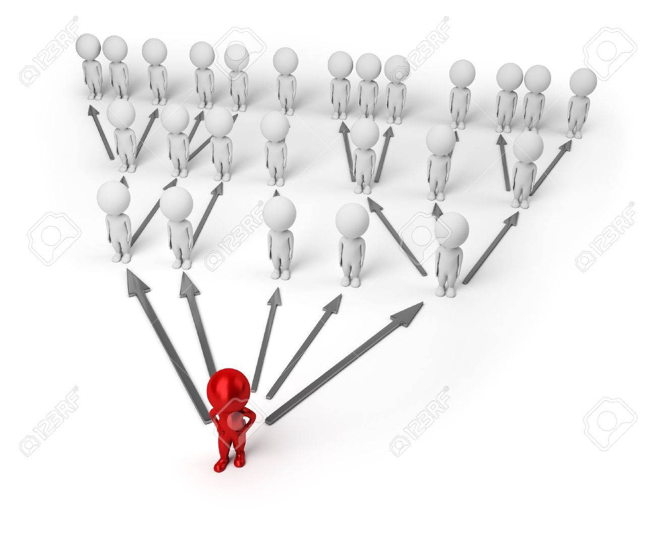 3d small people standing numbers as a pyramid. 3d image. Isolated white background. Stock Photo - 9075002