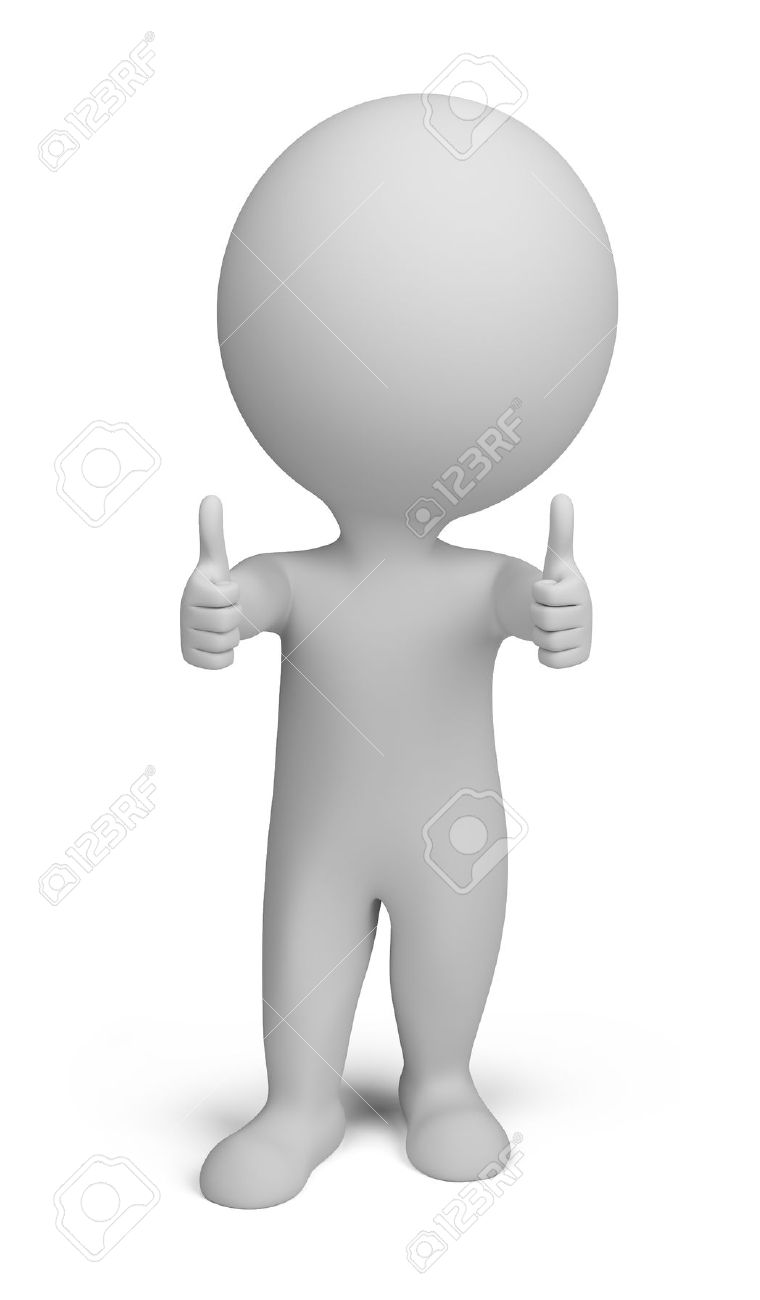 3d small person - double thumbs up. 3d image. Isolated white background. Stock Photo - 12008188