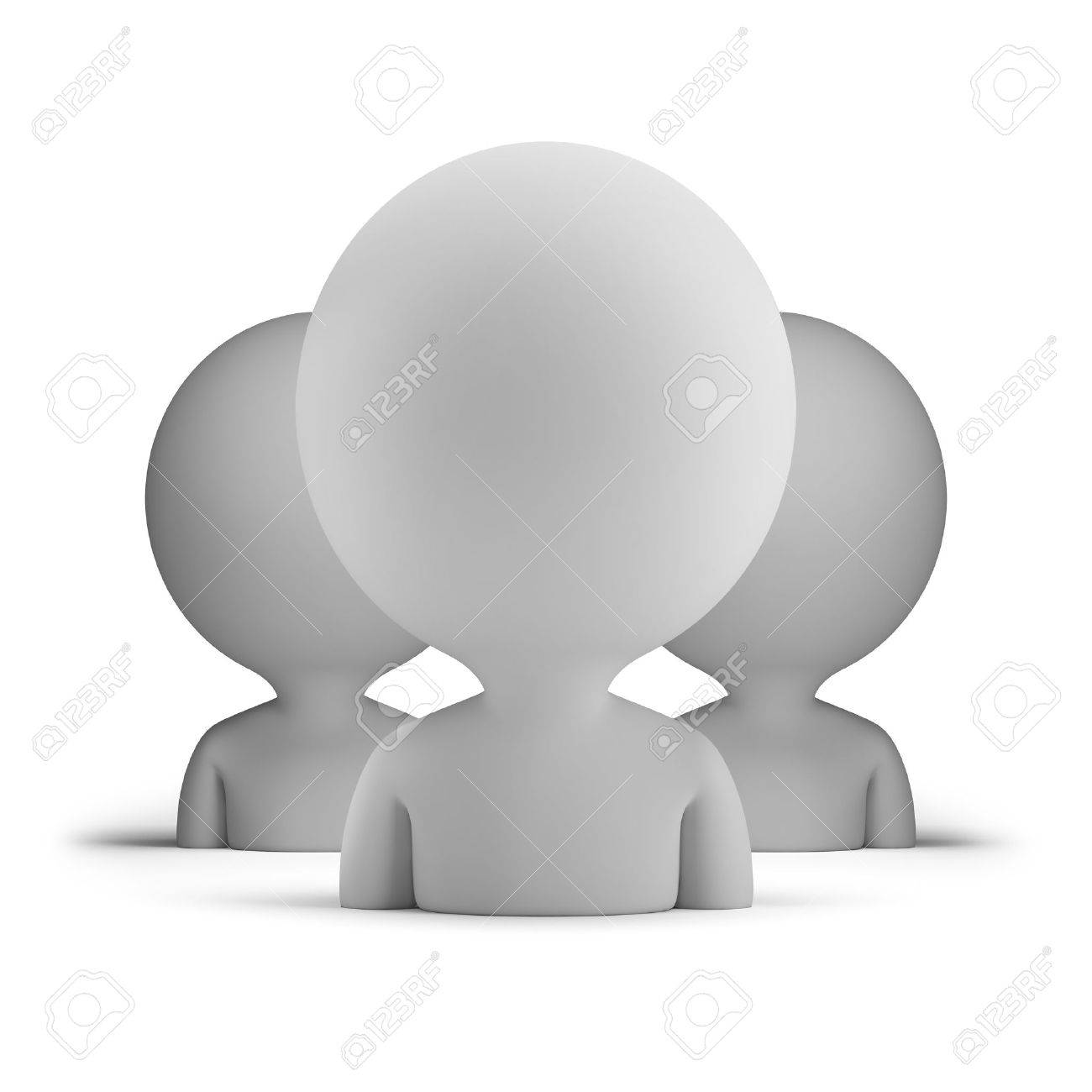 three users  3d small person  3d image  Isolated white background Stock Photo - 14723567