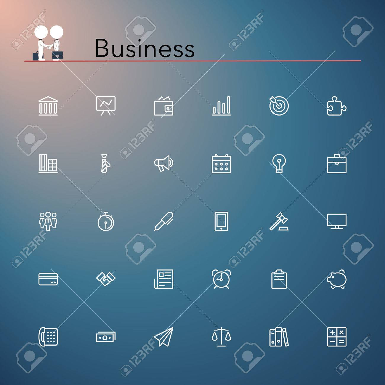Business and finance line Icons set  Vector illustration Stock Vector - 30673173
