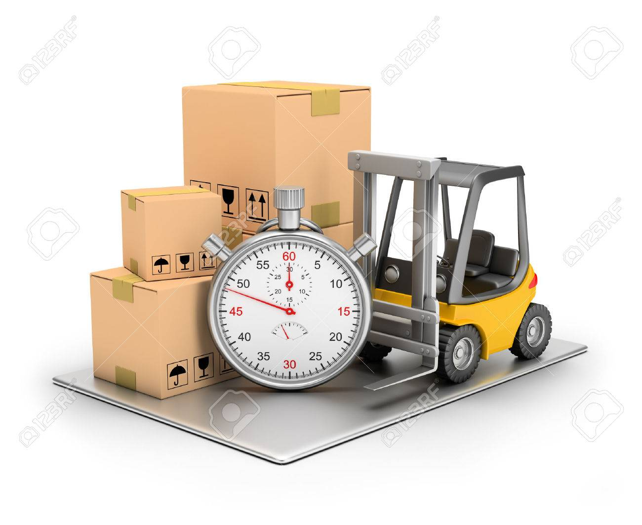 Delivery concept. 3d image. Isolated white background. Stock Photo - 41073963