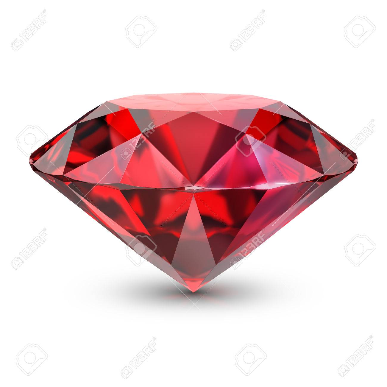 Ruby. 3d image. Isolated white background. - 76966659