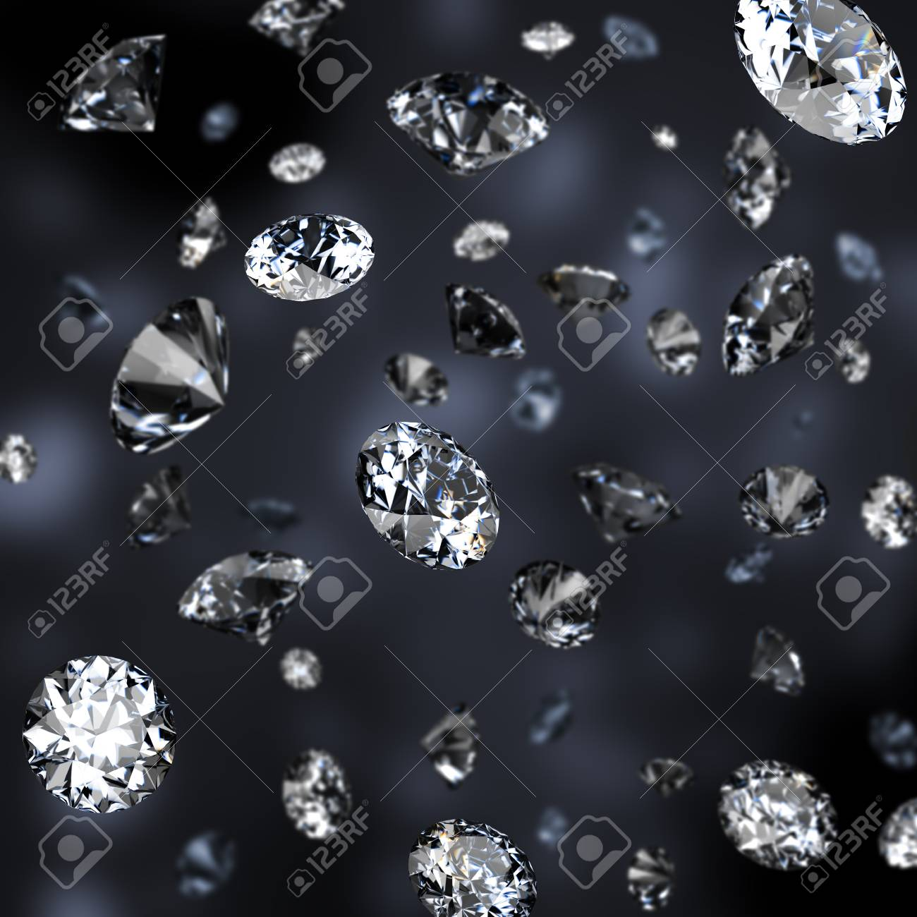 Diamond rain. Dark background. - 90614042