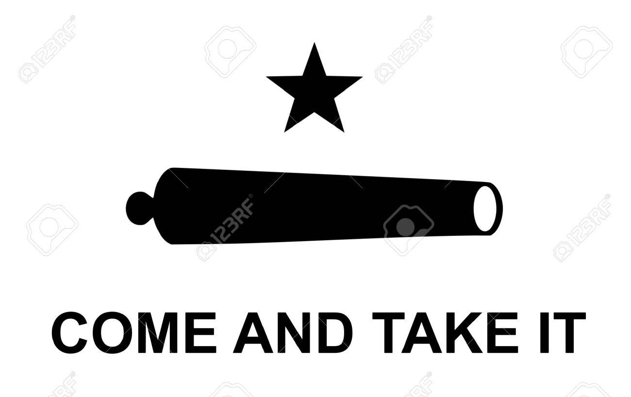 e07f8f98534 Stock Photo - united states america historic flag symbol come and take it