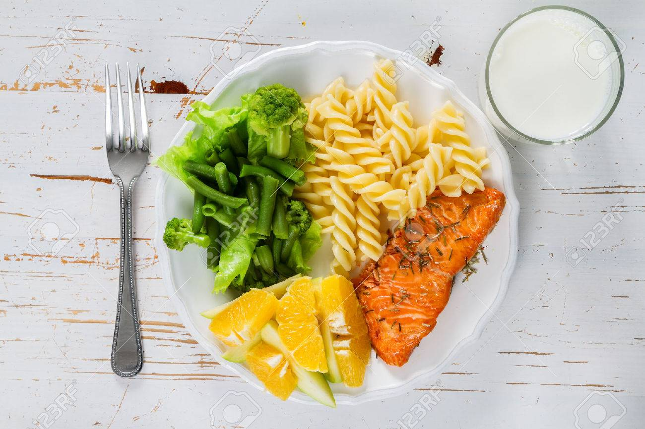 My plate portion control guide, top view Stock Photo - 54514932