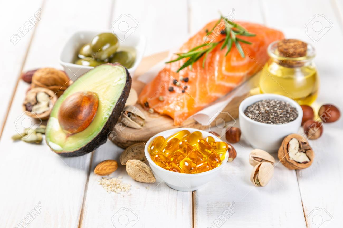 Selection of healthy unsaturated fats, omega 3 - 116033771