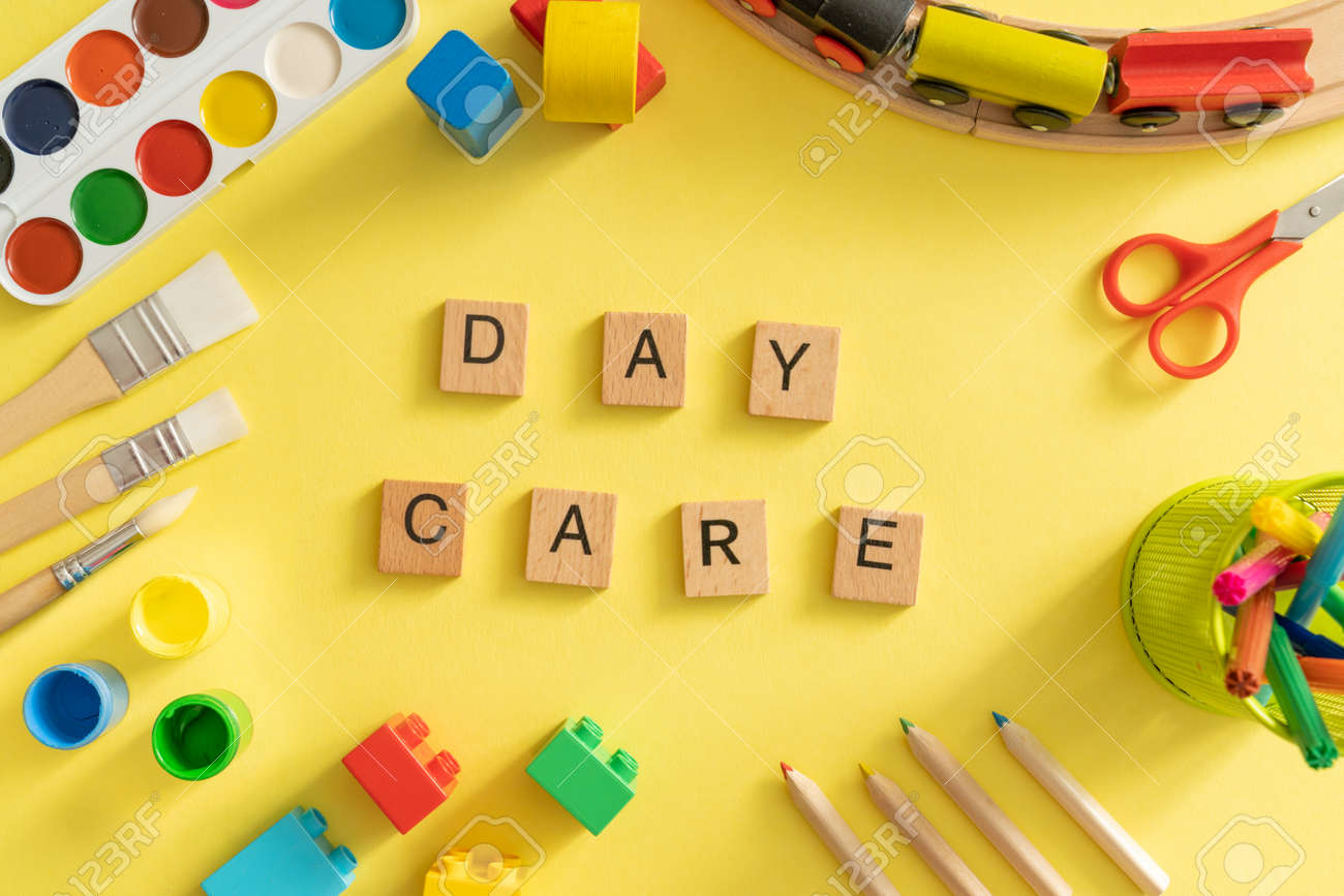 Day care concept - toy and art supply - 164101024