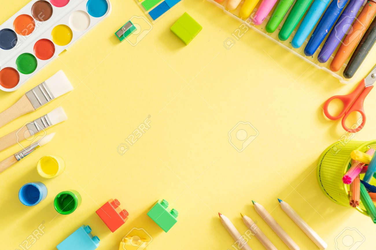 Kids online drawing class concept - supplies - 170905356