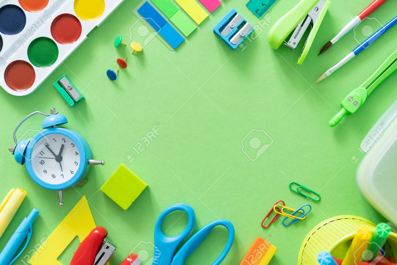 Back to school concept - colorful school supplies - 170905372