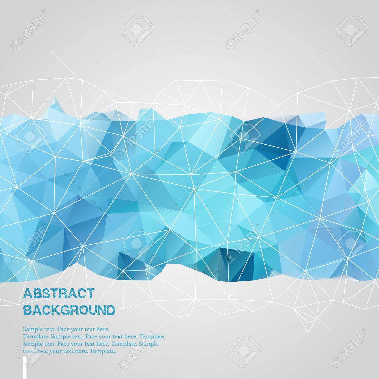 abstract background with blue triangles template royalty free