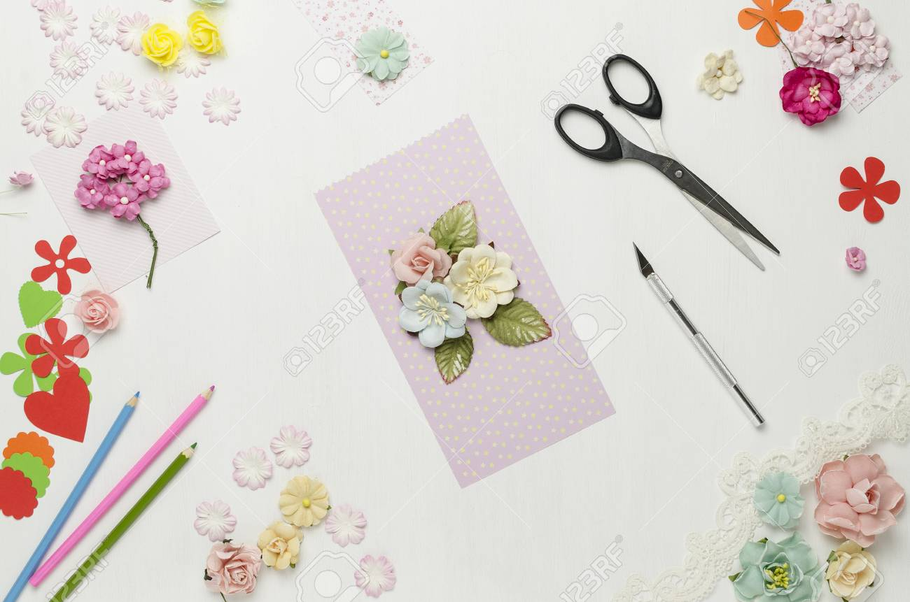 Postcard From Paper Flowers Scrapbooking Creative Mess The
