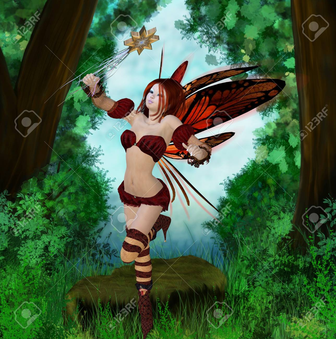 fairy in the wood Stock Photo - 9182442
