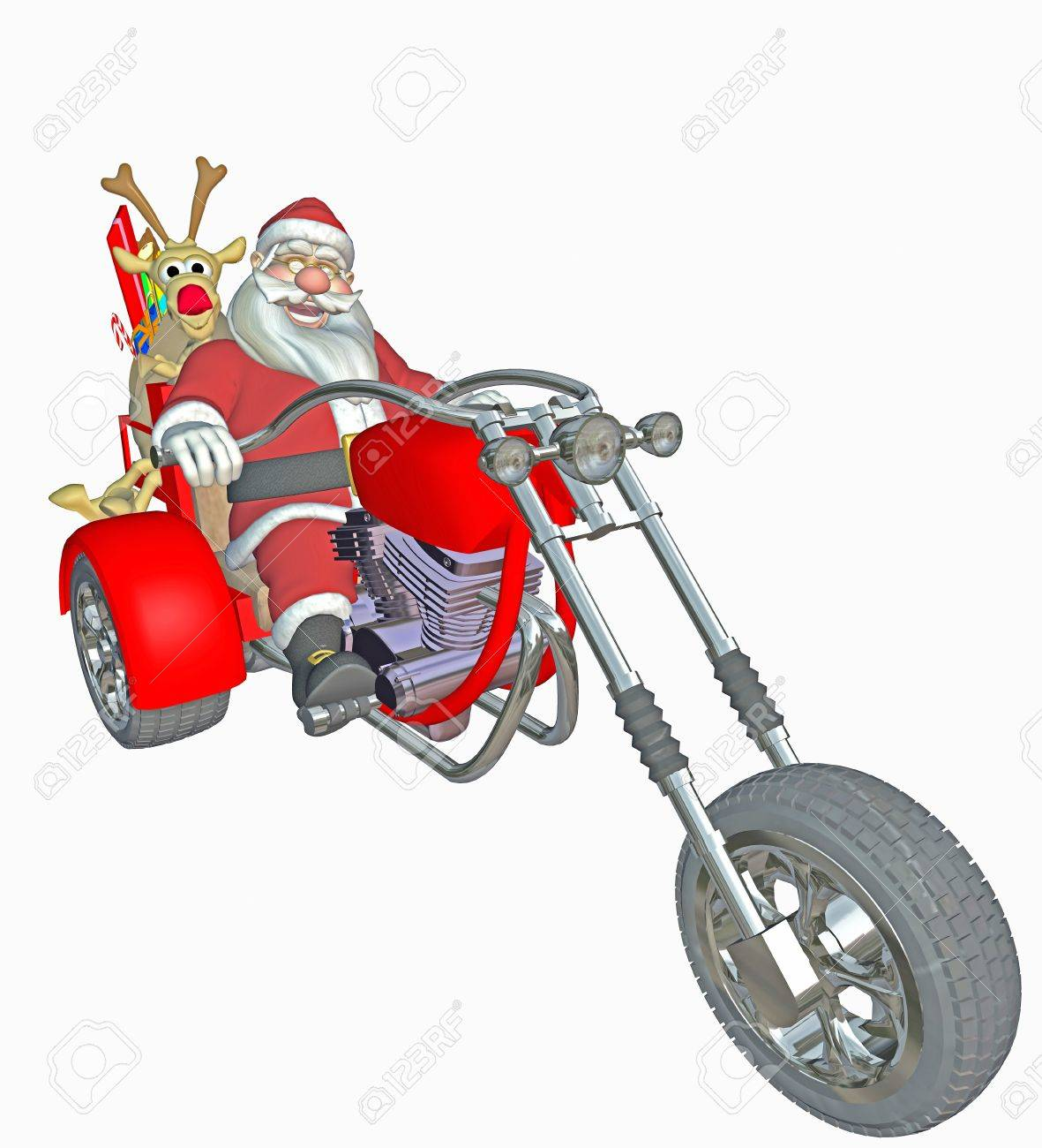 Modern Santa Claus Stock Photo, Picture And Royalty Free Image ...