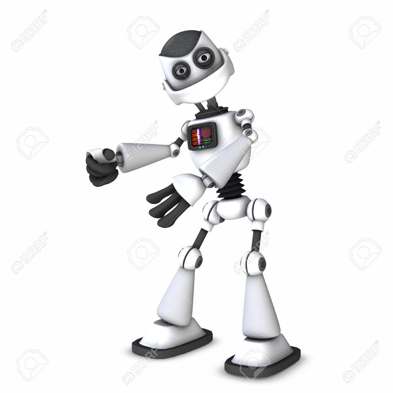 robot toon Stock Photo - 9206235