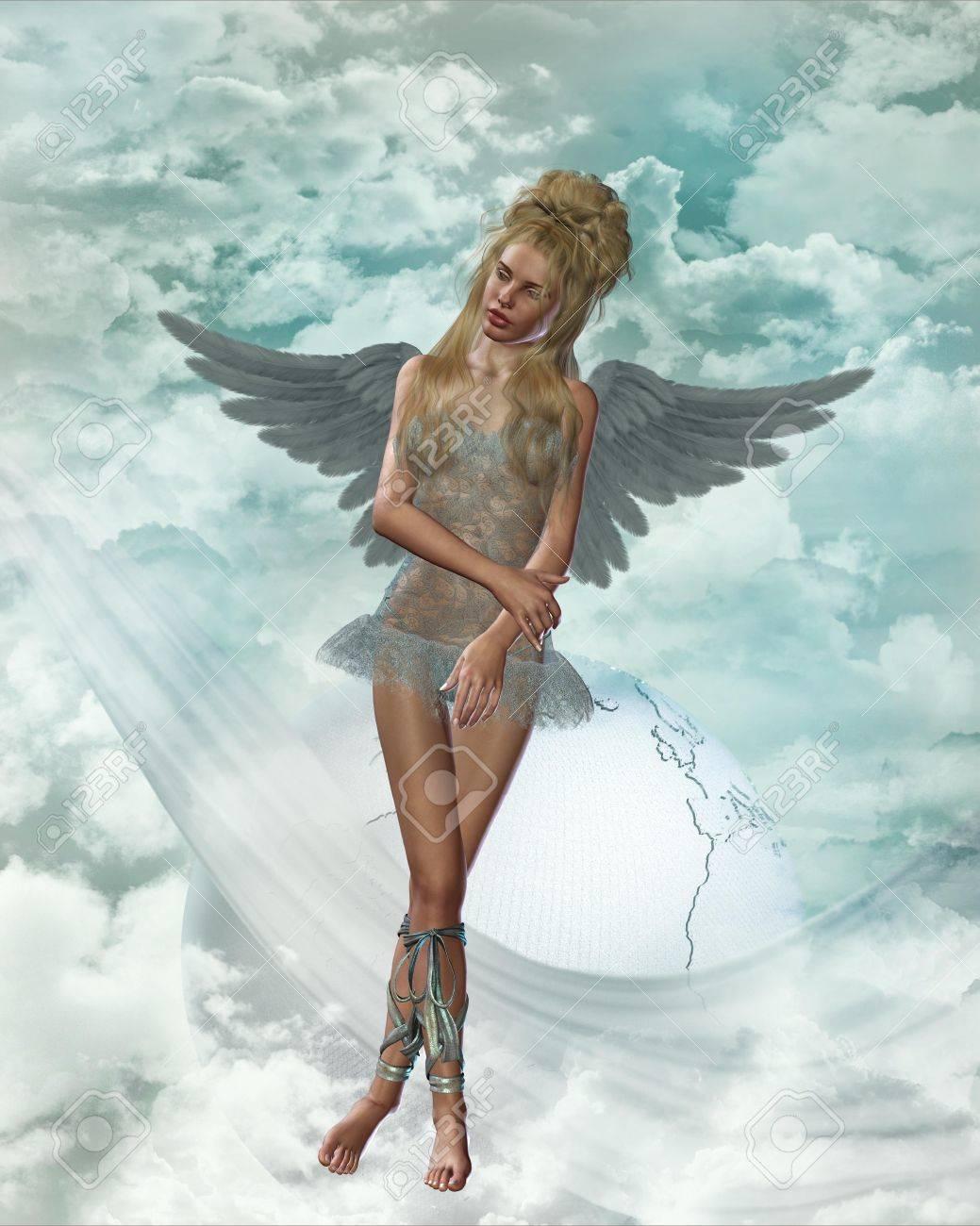 angel in heaven Stock Photo - 9209470