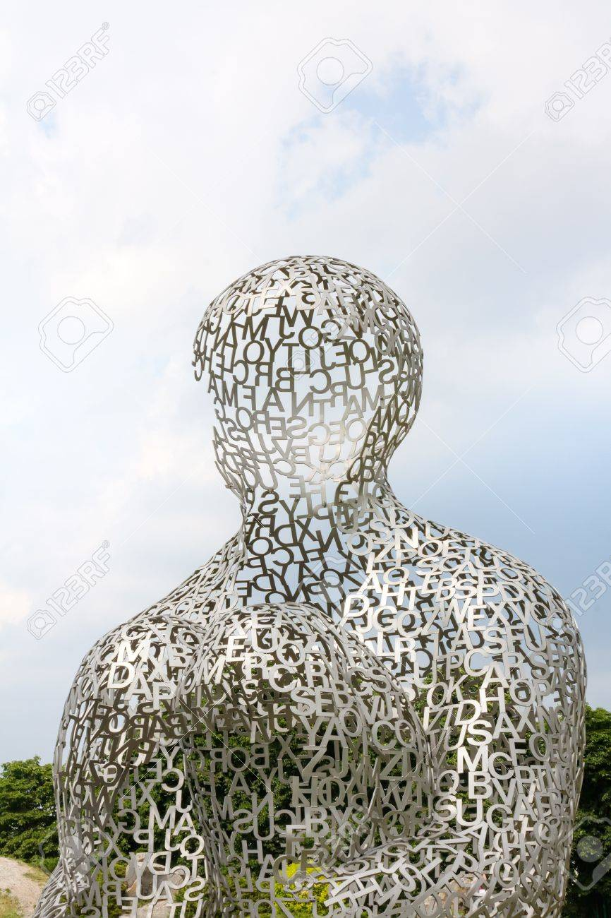 KIEV, UKRAINE - JUN 04  sculpture Body of Knowledge from Jaume Plensa on June 04, 2012 in Kiev, Ukraine  Exhibition of contemporary art  Kyiv Sculpture Рroject   Stock Photo - 17175842