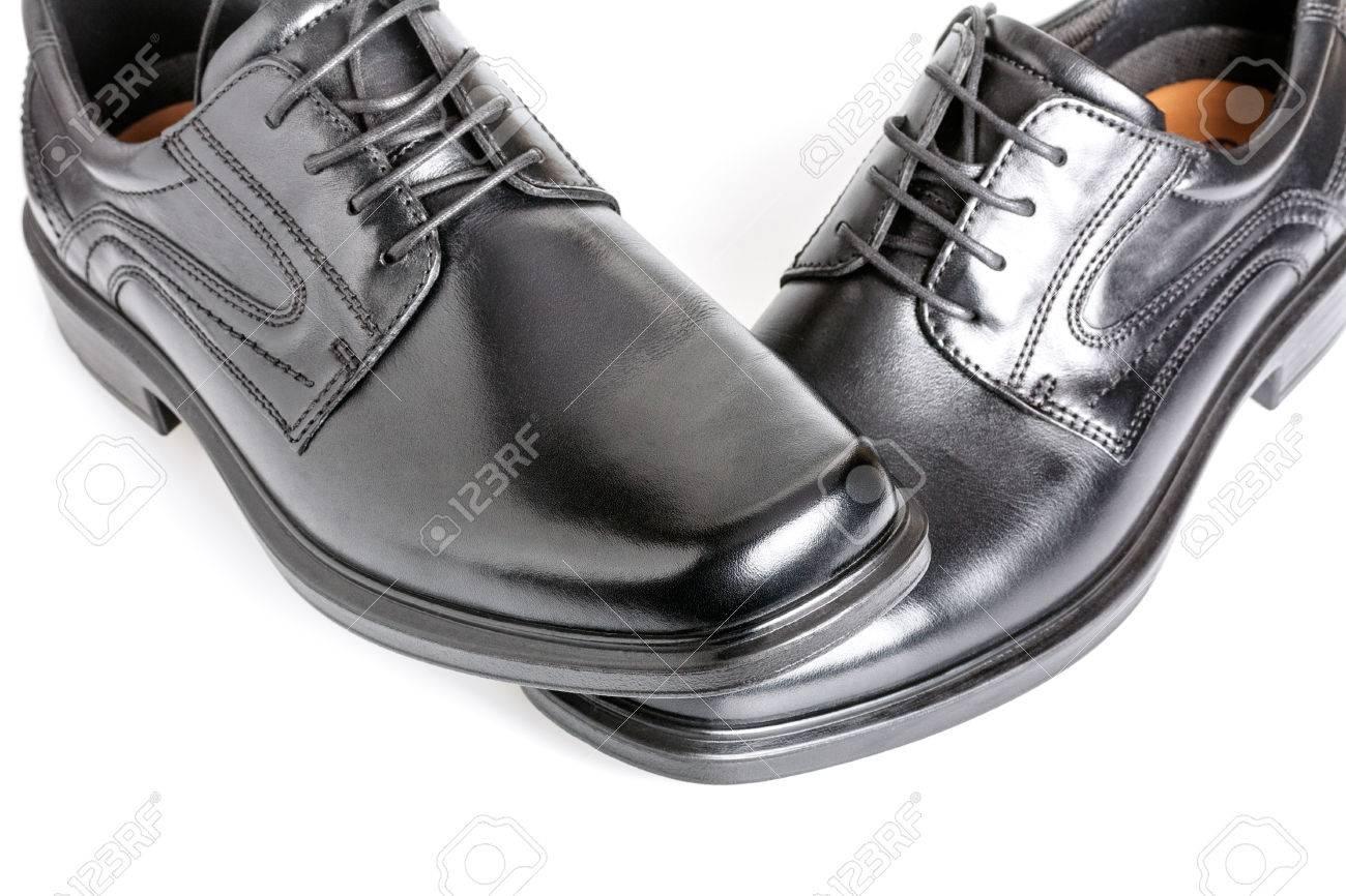 Classic Shiny Black Men's Shoes Stock