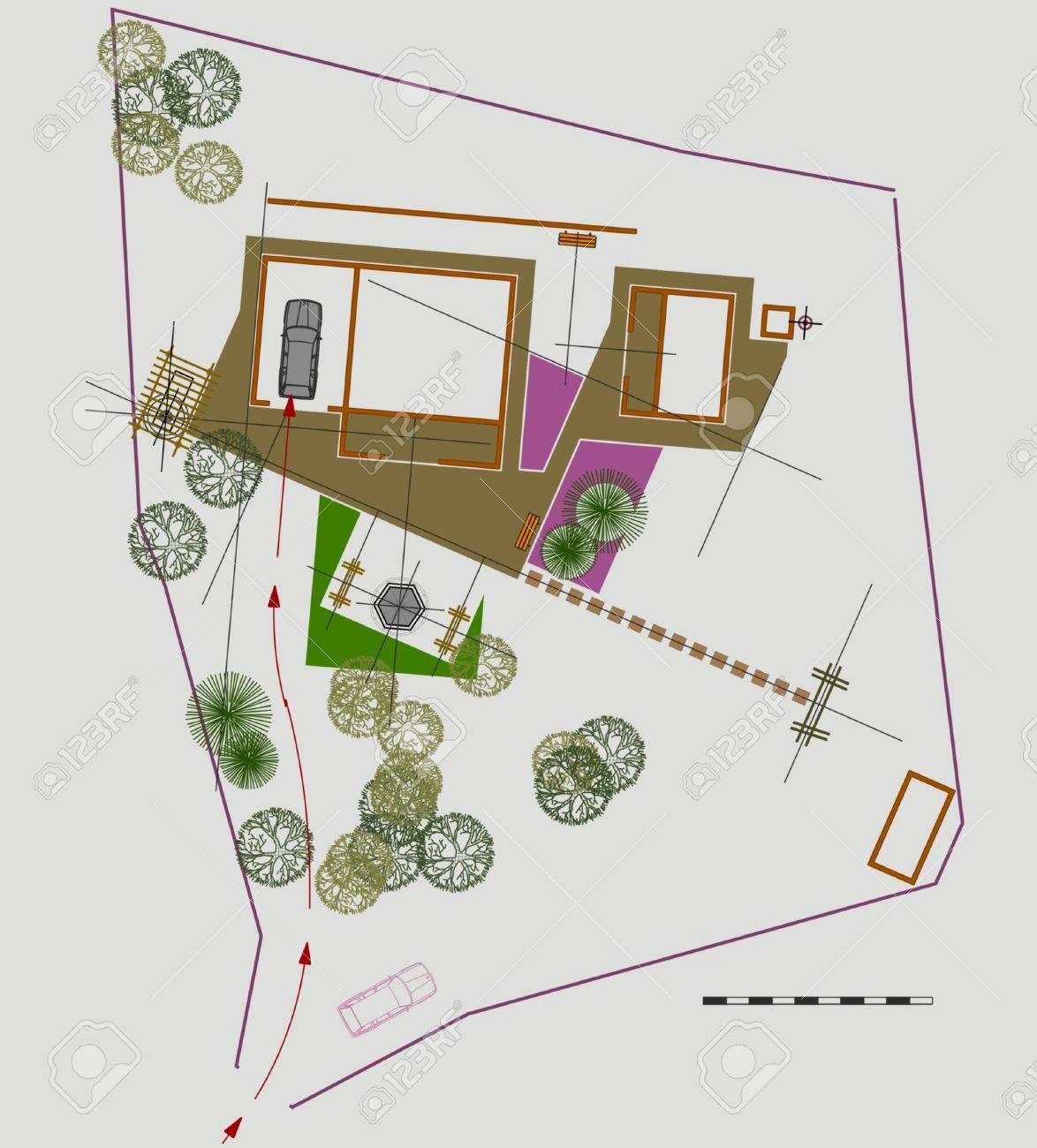 Sito Per Progettare Casa piano del sito per la progettazione del paesaggio casa