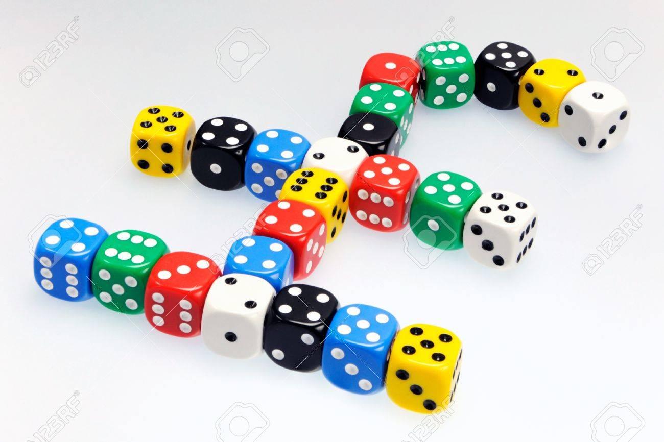 Dice in shape of a uk pound symbol illustrating risk in business dice in shape of a uk pound symbol illustrating risk in business and finance stock photo buycottarizona