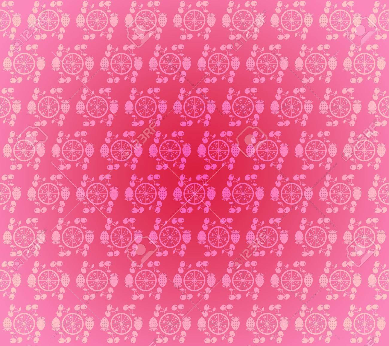 nahtlose muster tapeten hellrosa kleinen frchten und beeren standard bild 11972994 - Muster Tapeten