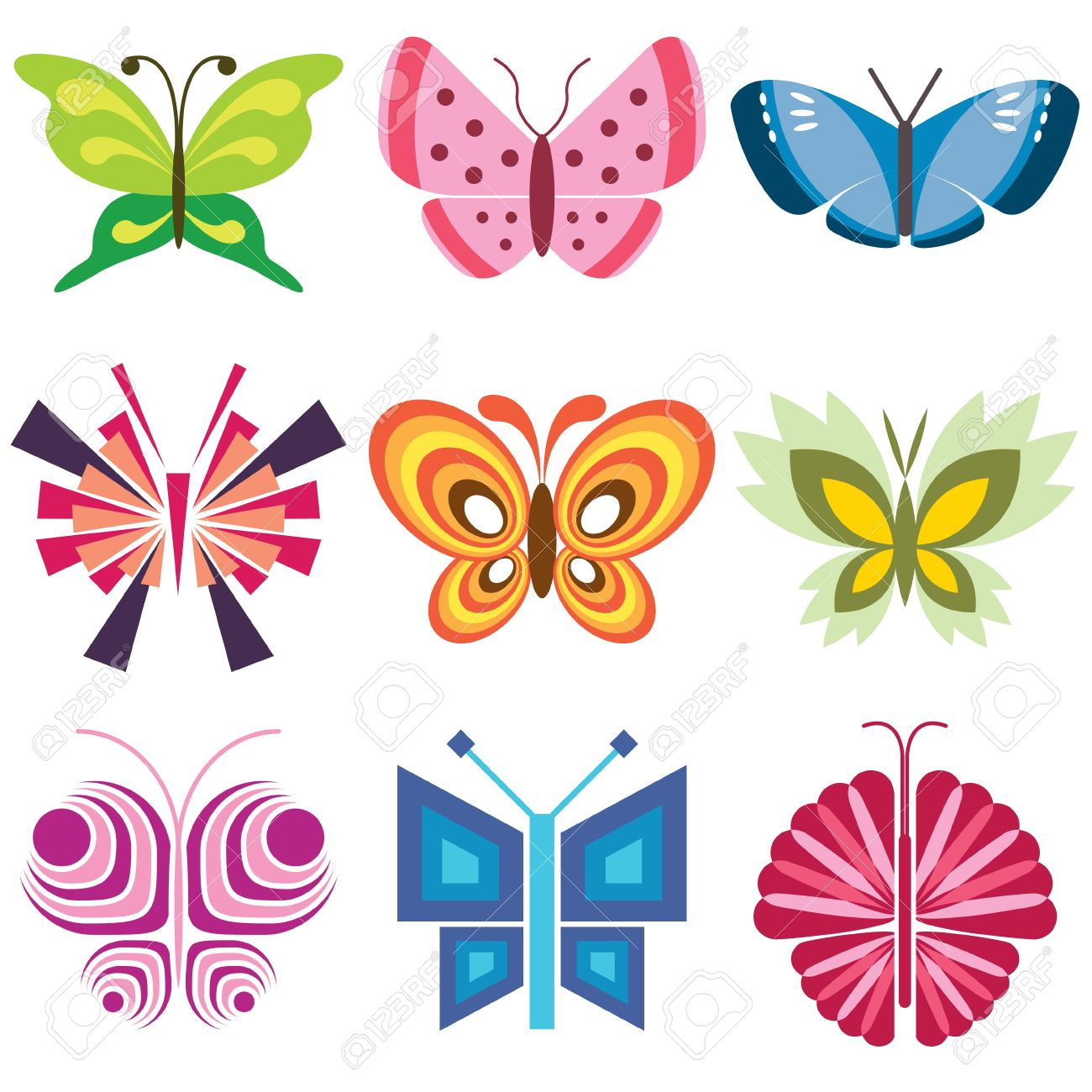 butterfly icons vector set Stock Vector - 12834790
