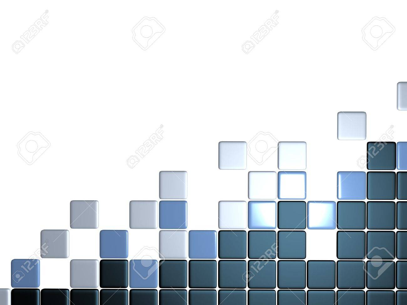 3d abstract levels background mosaic tile Stock Photo - 12834647