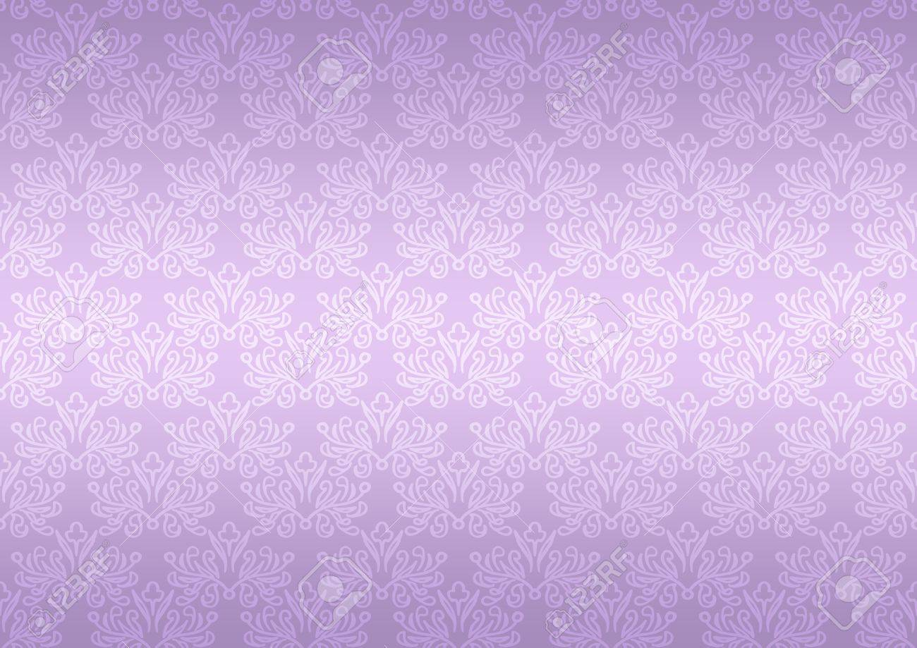 Seamless pattern wallpaper floral bright violet Stock Photo - 12834681