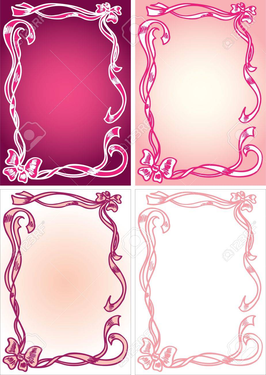 hand drawn ribbons and bows in vector Stock Vector - 12834883