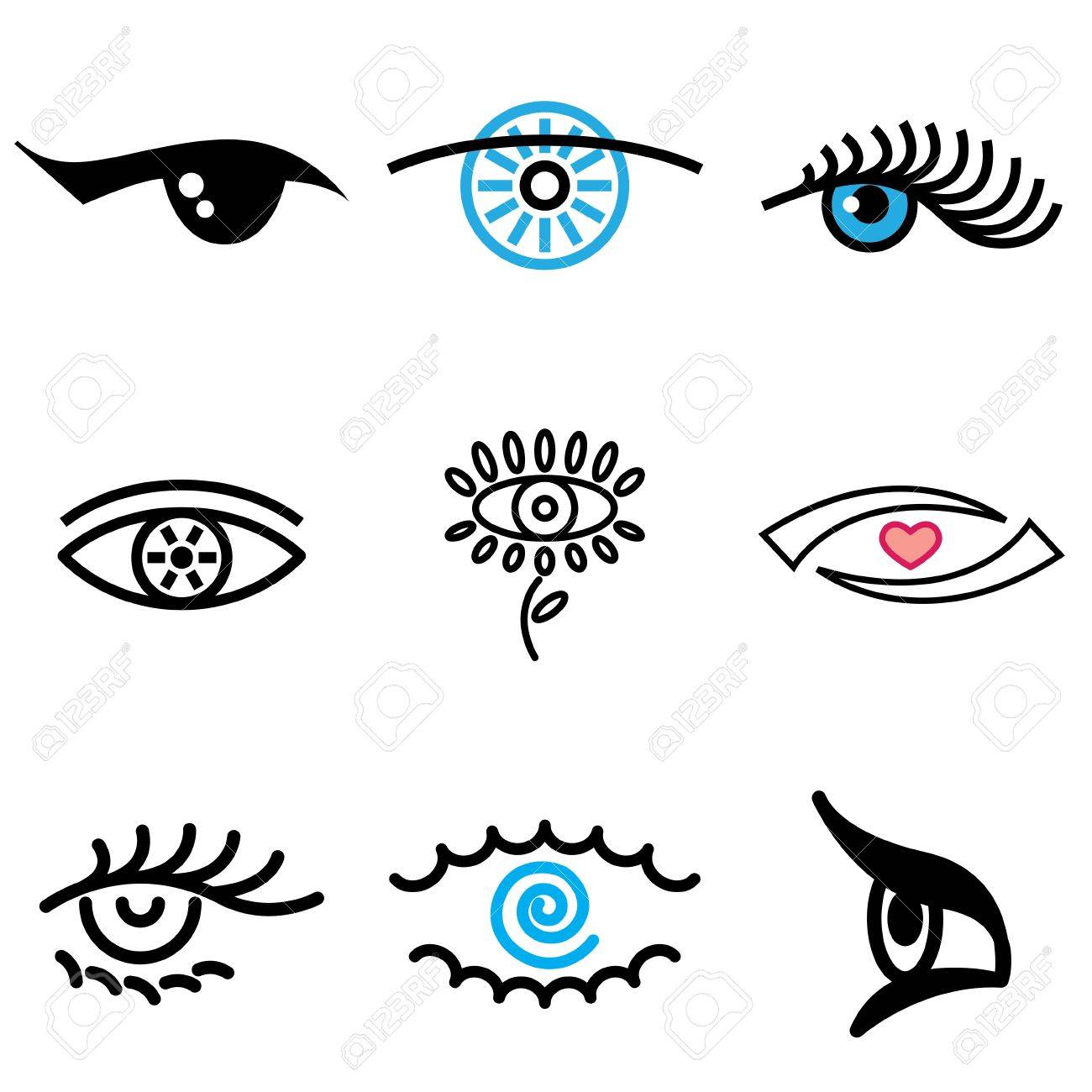eye hand drawn icons in vector Stock Vector - 16270866