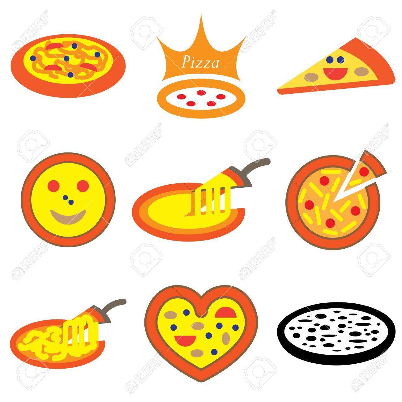 pizza hand drawn icons in vector Stock Vector - 16270878
