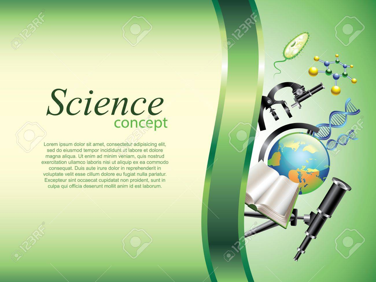 Scientific or education horizontal vector background with devider Stock Vector - 23200847