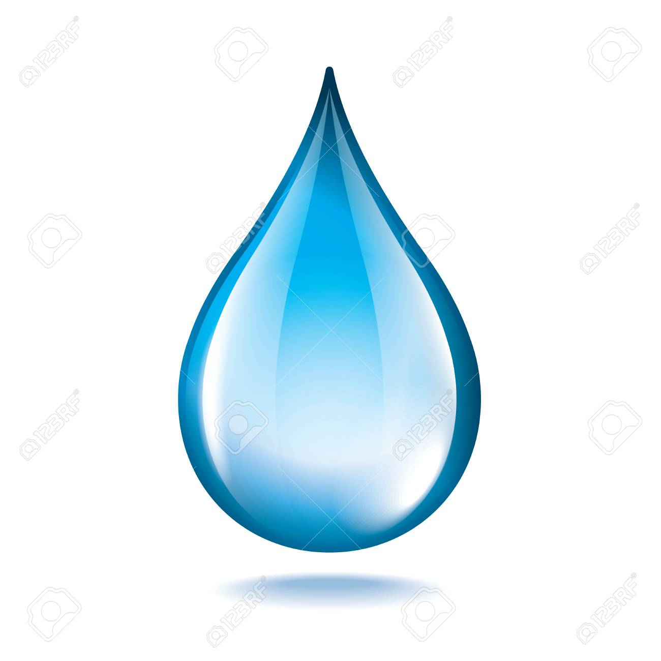 Water drop isolated on white photo-realistic vector illustration Stock Vector - 25413280