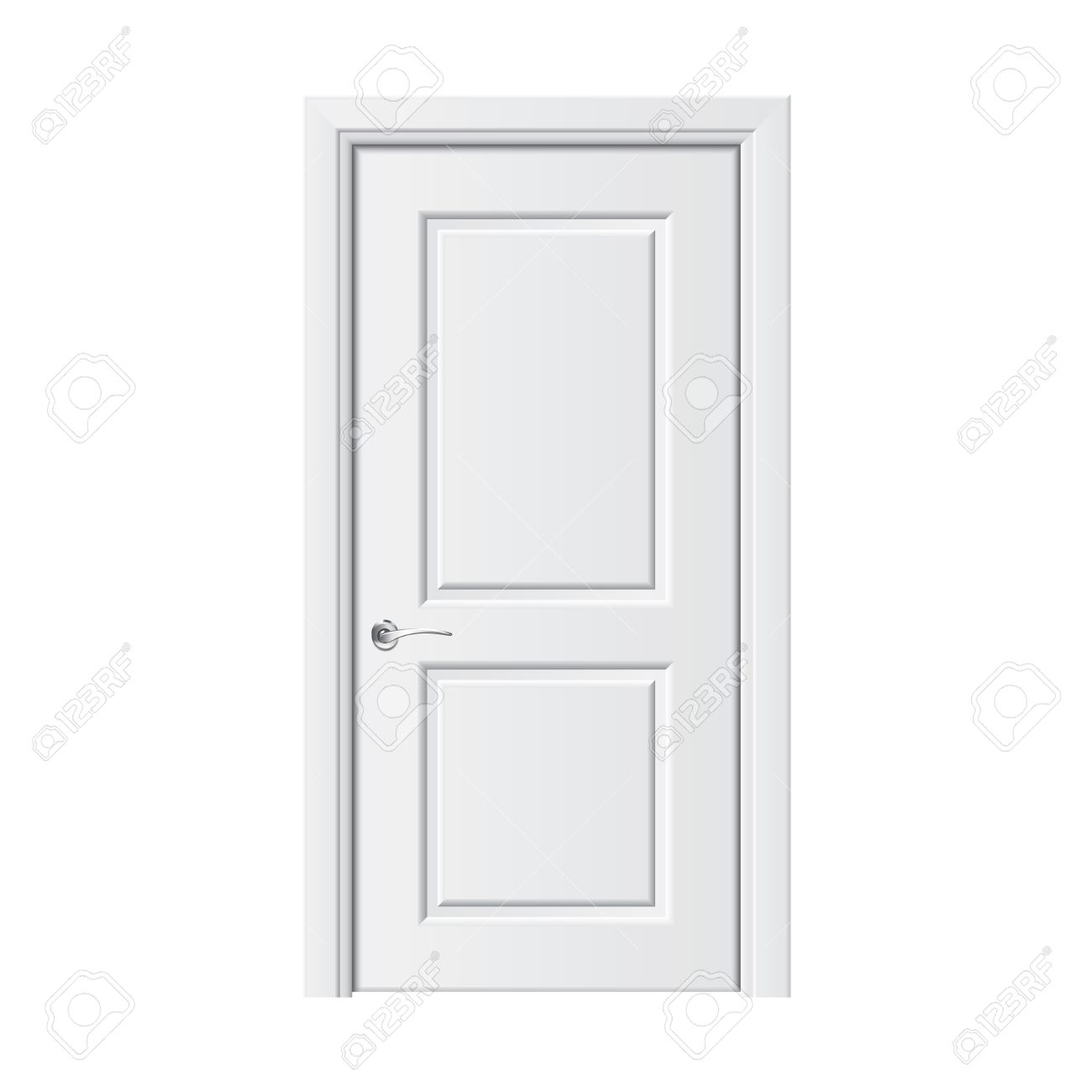 white door isolated on white photo realistic vector illustration stock vector 27347759