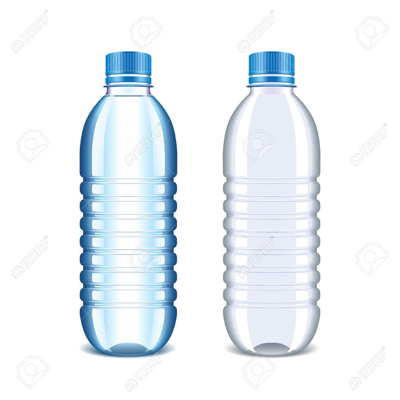 Admirable Bouteille En Plastique Pour L'eau Isolé Sur Blanc Clip Art Libres VM-51