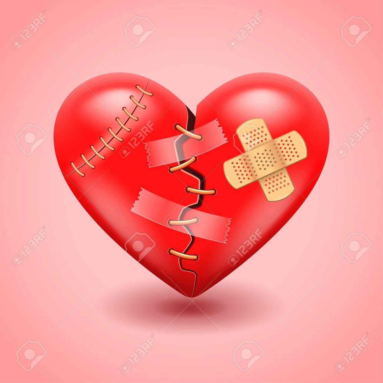 Big broken heart photo realistic vector background royalty free big broken heart photo realistic vector background stock vector 39879975 biocorpaavc Images