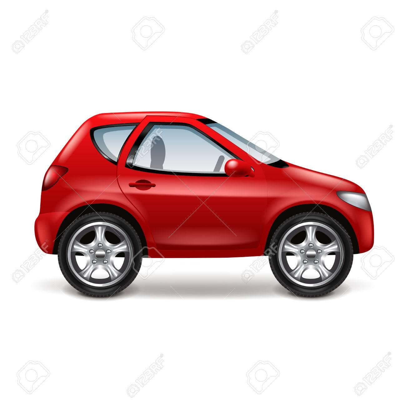 Rode Auto Profiel Geisoleerd Op Wit Vector Illustratie Royalty Vrije Cliparts Vectoren En Stock Illustratie Image 51562095