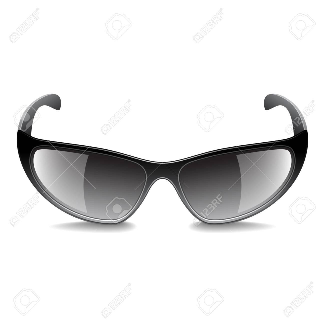 6f1150e15f93fc Sport zonnebril geïsoleerd op wit foto-realistische vector illustratie  Stockfoto - 73122814