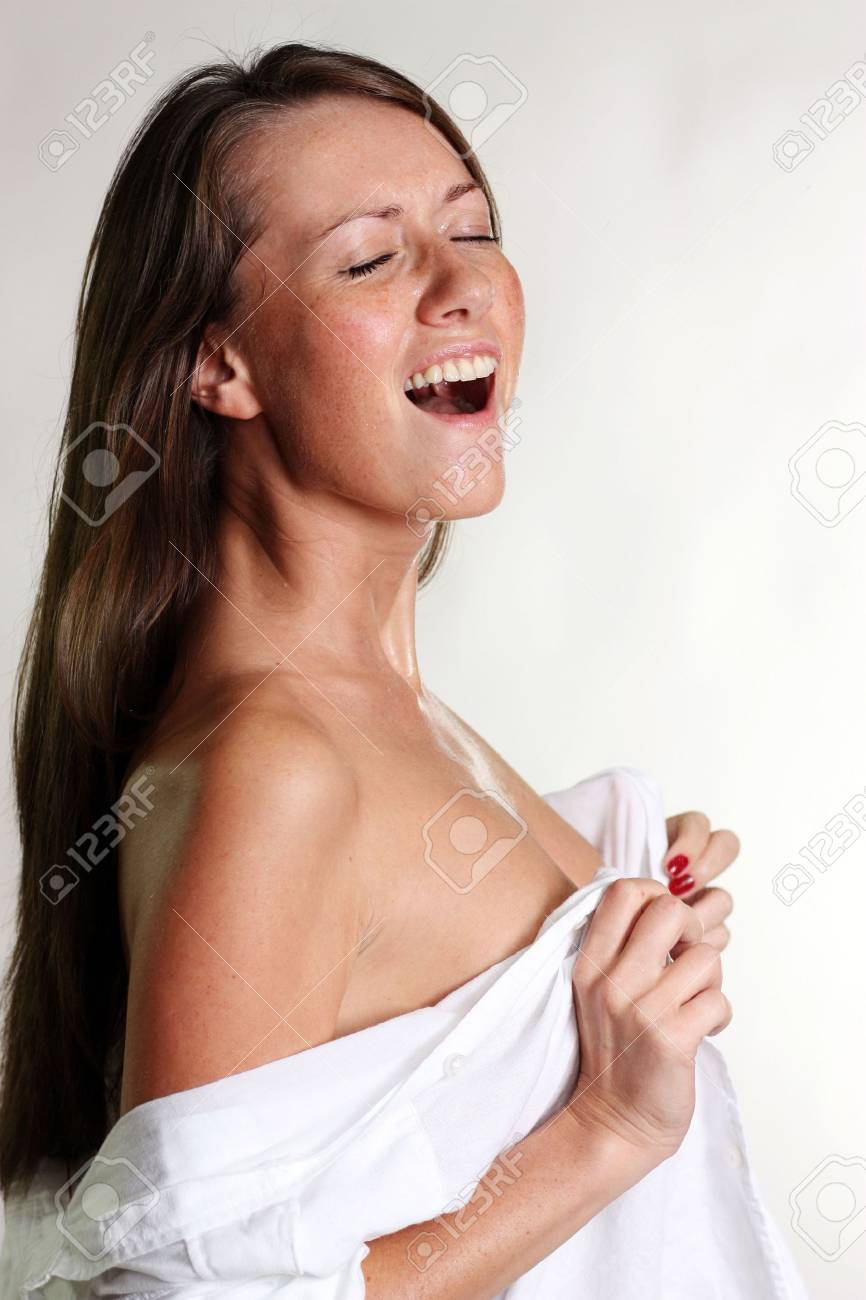 sexual girl in a wet white shirt Stock Photo - 5879971
