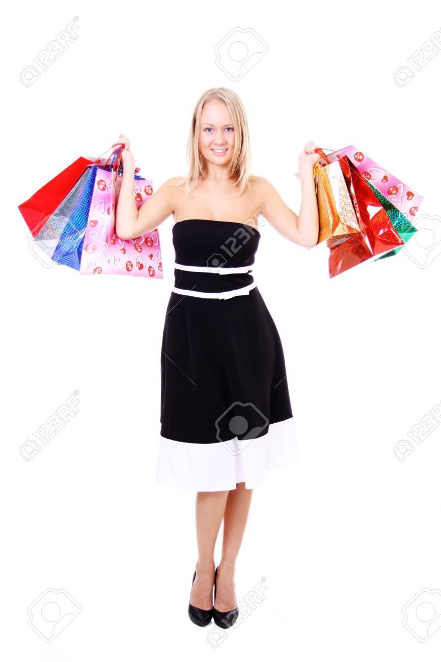 Shopping young woman Stock Photo - 8993737
