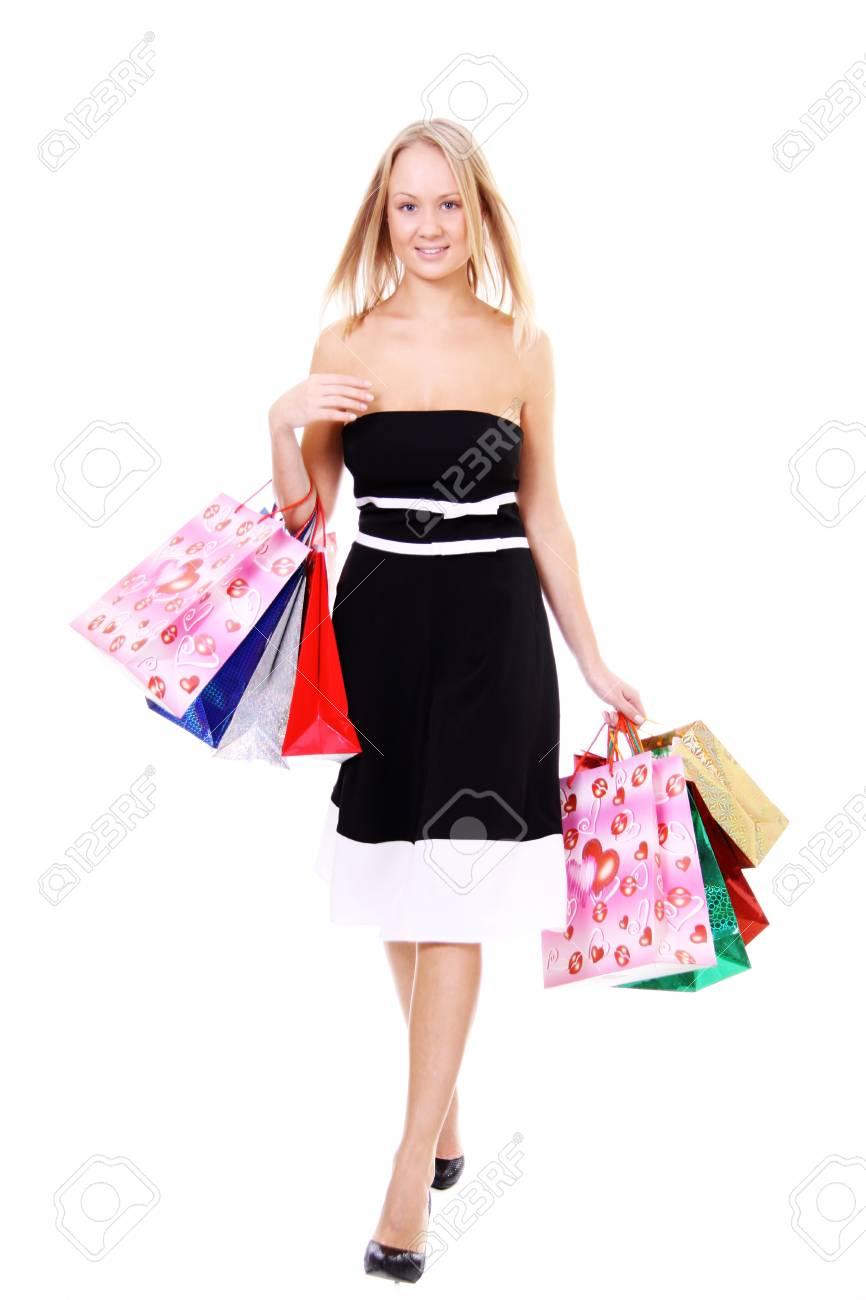 Shopping young woman Stock Photo - 8993733