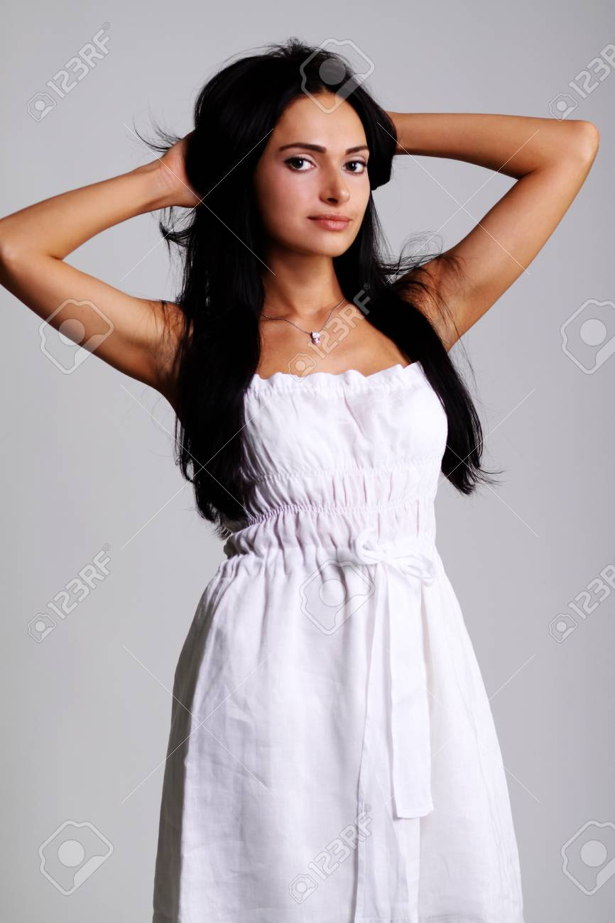Closeup portrait of an attractive woman Stock Photo - 9514122