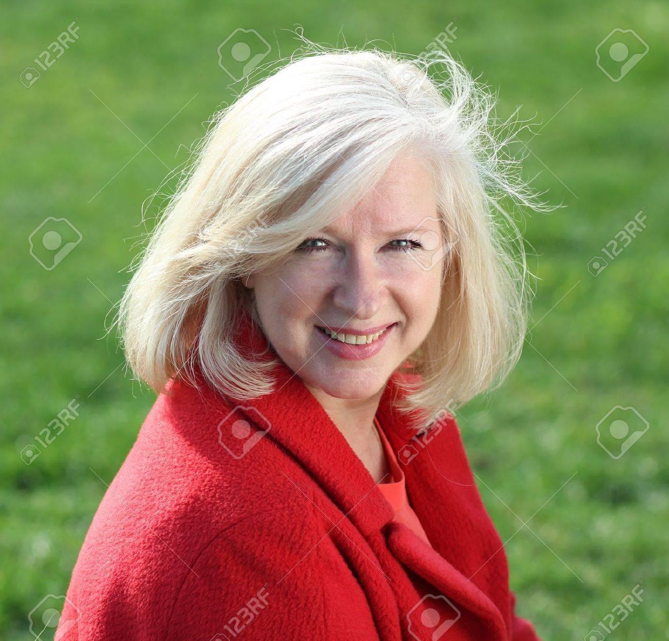 Closeup portrait of a happy mature woman Stock Photo - 10831658