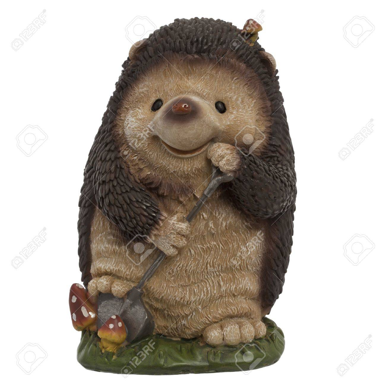 Statue Garden Hedgehog Stock Photo Picture And Royalty Free Image