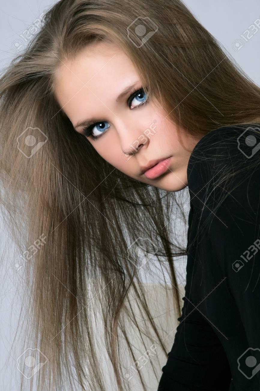 Portrait of beautiful woman in studio Stock Photo - 29892156