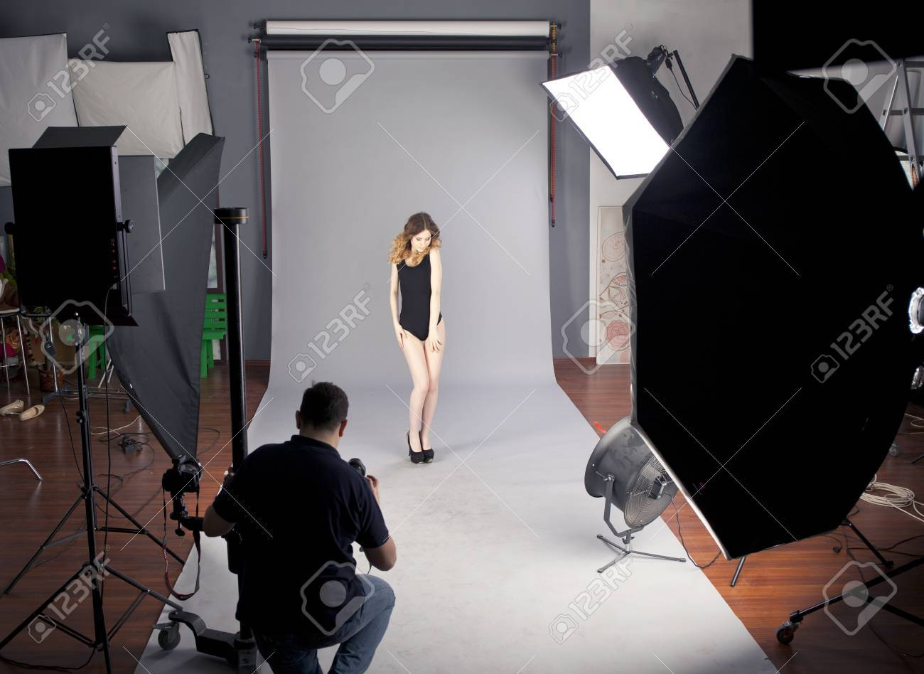 Working Conditions In The Studio The Photographer Photographs Stock Photo Picture And Royalty Free Image Image 38701356