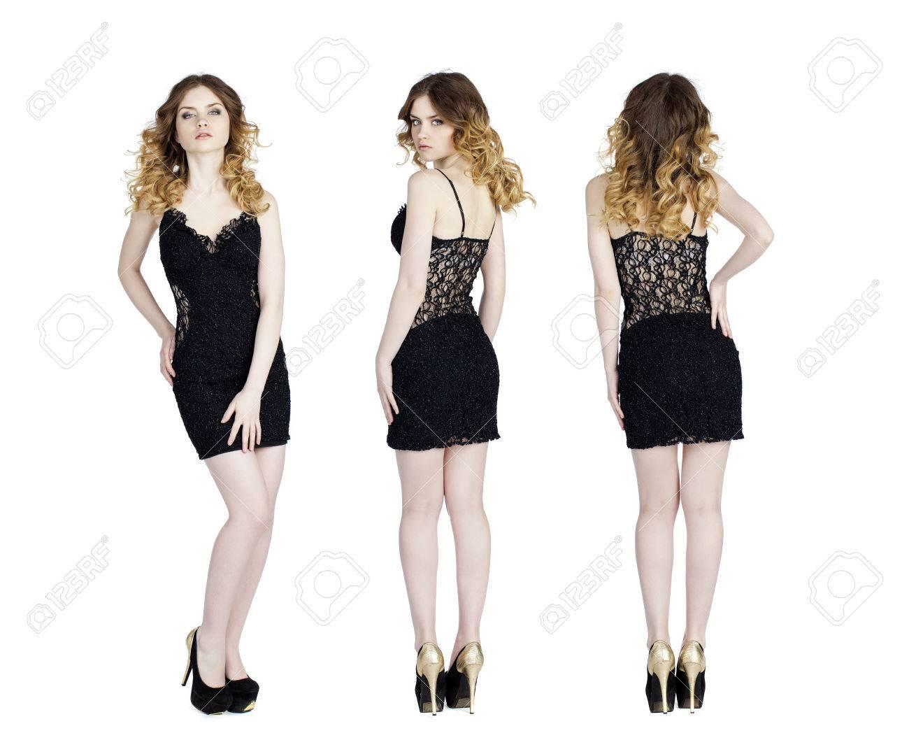 Blanco vestido negro